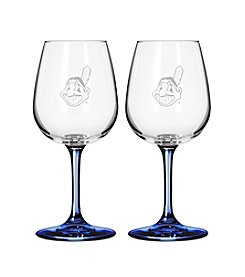 MLB® Cleveland Indians 2-Pack Wine Glasses
