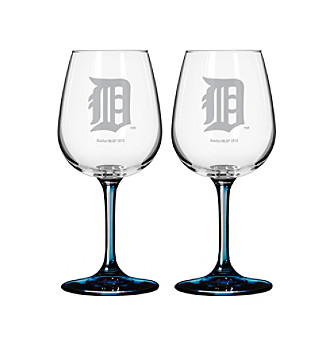 Boelter Brands MLB® Detroit Tigers 2-Pack Wine Glasses