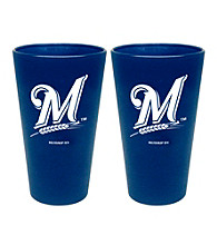 Boelter Brands MLB® Milwaukee Brewers 2-Pack Frosted Pint Glasses