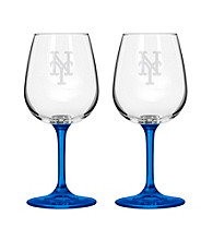 Boelter Brands MLB® New York Mets 2-Pack Wine Glasses