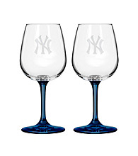 Boelter Brands MLB® New York Yankees 2-Pack Wine Glasses
