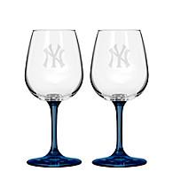 Boelter Brands MLB® New York Yankees 2-Pack Wine Glasses