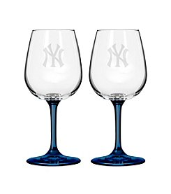 MLB® New York Yankees 2-Pack Wine Glasses