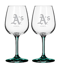 Boelter Brands MLB® Oakland Athletics 2-Pack Wine Glasses