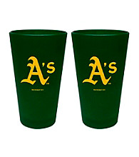 Boelter Brands MLB® Oakland Athletics 2-Pack Frosted Pint Glasses