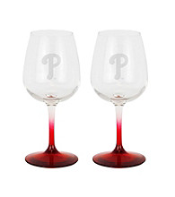 Boelter Brands MLB® Philadelphia Phillies 2-Pack Wine Glasses