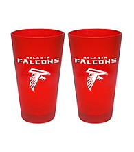 Boelter Brands NFL® Atlanta Falcons 2-Pack Frosted Pint Glasses