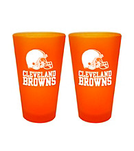Boelter Brands NFL® Cleveland Browns 2-Pack Frosted Pint Glasses