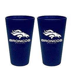 Boelter Brands NFL® Denver Broncos 2-Pack Frosted Pint Glasses