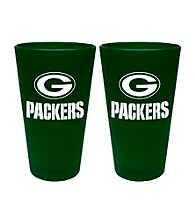 Boelter Brands NFL® Green Bay Packers 2-Pack Frosted Pint Glasses