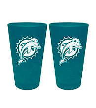 Boelter Brands NFL® Miami Dolphins 2-Pack Frosted Pint Glasses