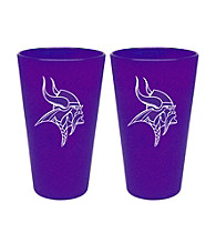Boelter Brands NFL® Minnesota Vikings 2-Pack Frosted Pint Glasses