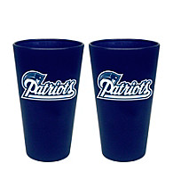 Boelter Brands NFL® New England Patriots 2-Pack Frosted Pint Glasses