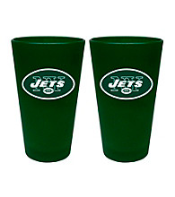 Boelter Brands NFL® New York Jets 2-Pack Frosted Pint Glasses
