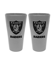 Boelter Brands NFL® Oakland Raiders 2-Pack Frosted Pint Glasses