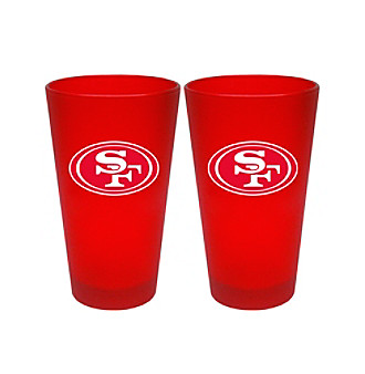 Boelter Brands NFL® San Francisco 49ers 2-Pack Frosted Pint Glasses
