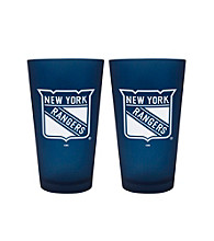 Boelter Brands NHL® New York Rangers 2-Pack Frosted Pint Glasses