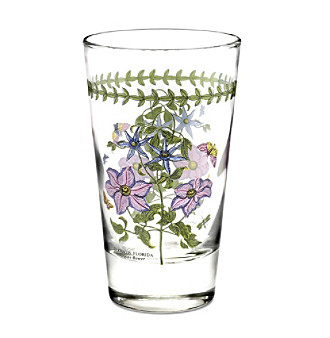 <strong>Web exclusive!</strong> Drinks will look regal and taste divine in these highball glasses, featuring the Clematis motif emblazoned on clear glass. Simply fill with ice and pour on the refreshments.