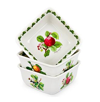 Portmeirion® Pomona Set of 3 Square Mini Dishes