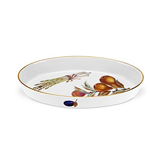 "Royal Worcester Evesham Gold 12.6"" Oval Dish"