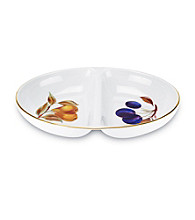 Royal Worcester Evesham Gold Divided Bowl