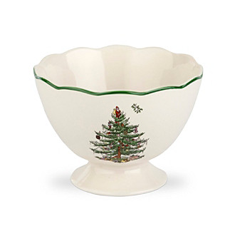 Spode® Christmas Tree Sculpted Footed Bowl