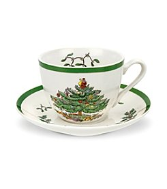 Spode® Christmas Tree Teacup & Saucer