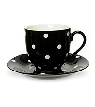 Set of 4 Spode® Baking Days Black Tea Cups and Saucers