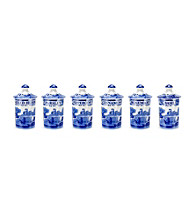 Set of 6 Spode® Blue Italian Spice Jars