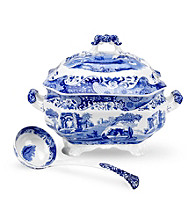 Spode® Blue Italian 5-qt. Soup Tureen and Ladle