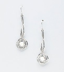 Hagit Gorali Sterling Silver Elongated Drop Earrings