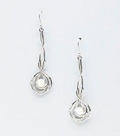 Hagit Gorali Sterling Silver Elongated Drop Earrings