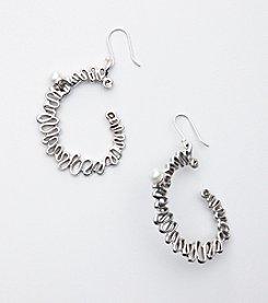 Hagit Gorali Sterling Silver Swirl Hoop Earrings