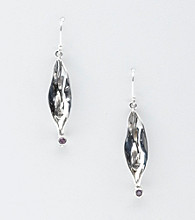 Hagit Gorali Sterling Silver Liquid Petal Earrings - Amethyst