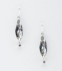 Hagit Gorali Sterling Silver Liquid Petal Earrings - Amethyst