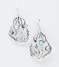 Hagit Gorali Sterling Silver Liquid Scroll Design Earrings