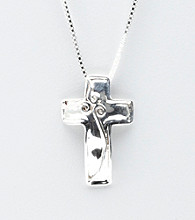 Hagit Gorali Sterling Silver Bold Shiny Cross Necklace