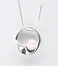 Hagit Gorali Sterling Silver Graduated Circle Pendant Necklace - Pearl