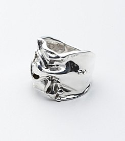 Hagit Gorali Sterling Silver Wide Band Ring