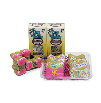 "Foppers® Gourmet Pet Treat Bakery 178-pc. Pink ""Happy Birthday"" Dog Treat Gift Set"