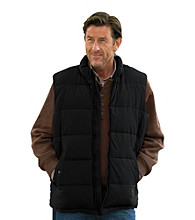 Oak Hill® Men's Big & Tall Black Microfiber Flannel-Lined Vest