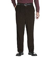 Oak Hill® Men's Big & Tall Waist-Relaxer® Pleated Corduroy Pants