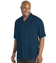 Synrgy™ Men's Big & Tall Microfiber Pintucked Panel Shirt