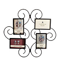 Burnes of Boston® Scroll Corner 4-Opening Metal Collage Frame
