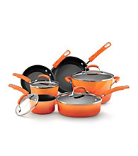 Rachael Ray® Porcelain Enamel II Nonstick 10-pc. Orange Cookware Set