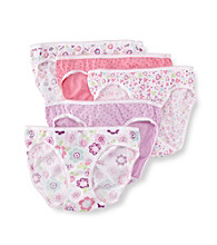 Jockey® Girls' 6-16 White/Purple/Pink 5-pk. Peace and Hearts Bikini Panties
