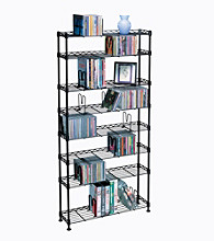 Atlantic Maxsteel 8 Tier Black Wire Multimedia Storage Rack