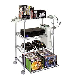 Atlantic Gamekeeper Rolling Wire Shelf Gaming Station
