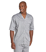 Nautica® Men's Anthracite Captain's Herringbone Camp Shirt