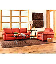 Palliser Magnum Spice Leather Sofa & Chair Living Room Furniture Collection